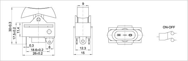 吹风机两个开关接线图